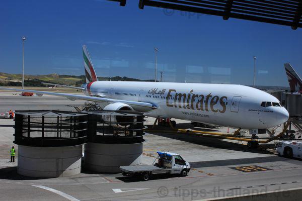 Mit Emirates nach Thailand